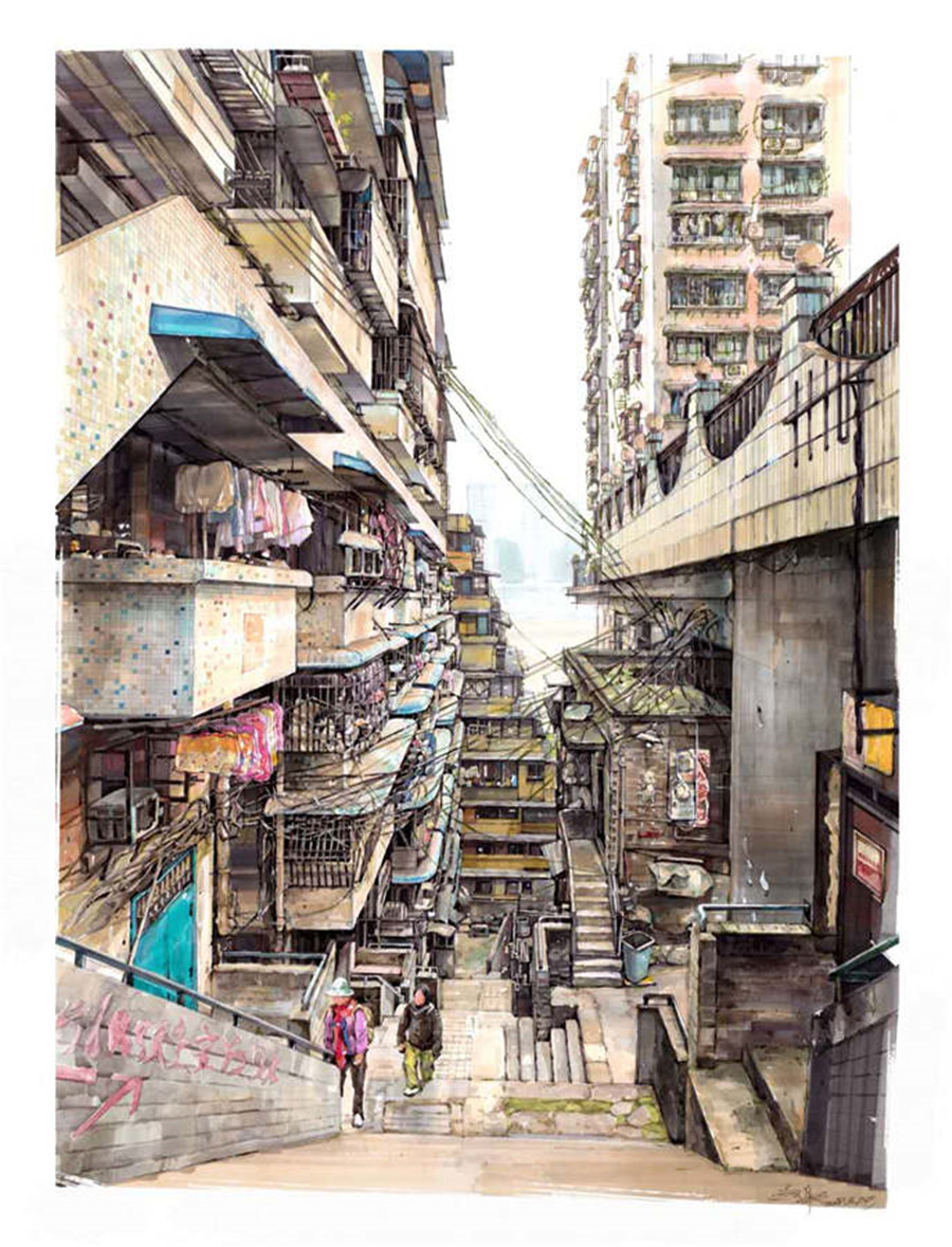 Young-Painter-Expresses-Love-for-Chongqing-By-Drawing-Pens-4