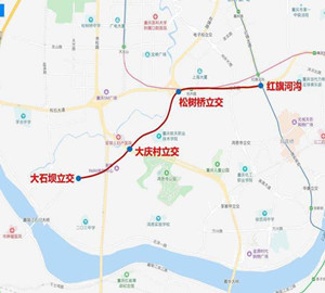a-new-bus-priority-lane-has-been-put-into-use-from-dashiba-to-hongqihegou